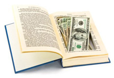 MOney hidden in a book